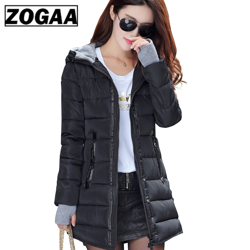 2019 Women Winter Hooded Warm Coat Plus Size Candy Color Cotton Padded Jacket Female Long   Parka   Womens Wadded Jaqueta 1PC