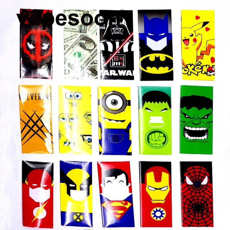 5 шт. Супер Герой Стиль 18650 Батарея защищены wrapper Наклейки Protector кожи ремонт электронных сигарет VAPE Батарея