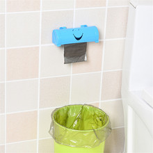 Creative Smiling Face Garbage Bag Organizer, PP Plastic Storage Box Paste-on Convenient, Household Organizer