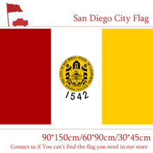 San Diego City Flag California State 90*150cm 60*90cm 3x5ft Custom 30*45cm Car For Event / Office Home decoration