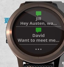 GPS Garmin vivoactive3 Smart Watch NFC платежи сердечного ритма трекер активности трекер сна Фитнес трекер ticwatch