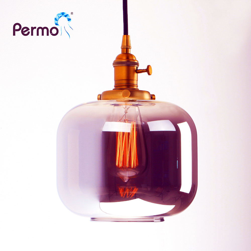 PERMO Jar Shape Pendant Lights Vintage Retro Loft Pendant Ceiling Lamps Modern Hanging lamp hanglamp Lights Fixture