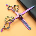 Sharonds púrpura tijeras del pelo set 6.0 pulgadas de peluquería tijeras de peluquero, corte de pelo profesional tijeras y herramientas de pelo