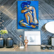 Home Decor Love Nude Figure Oil Painting Canvas Wall Pictures for Living Room posters and painting Pop Art