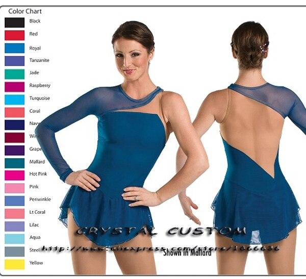 582850d3a5332 Chiffre personnalisé Robe De Patinage Pour Les Femmes Belle Nouvelle Marque  Vogue Figure Robes De Patinage Pour Concurrence DR2852