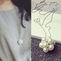 Lemon Value Fashion Charm Statement  Imitation Pearl Pendants Vintage Punk Maxi Long Necklaces Women Jewelry Femme Collier A293