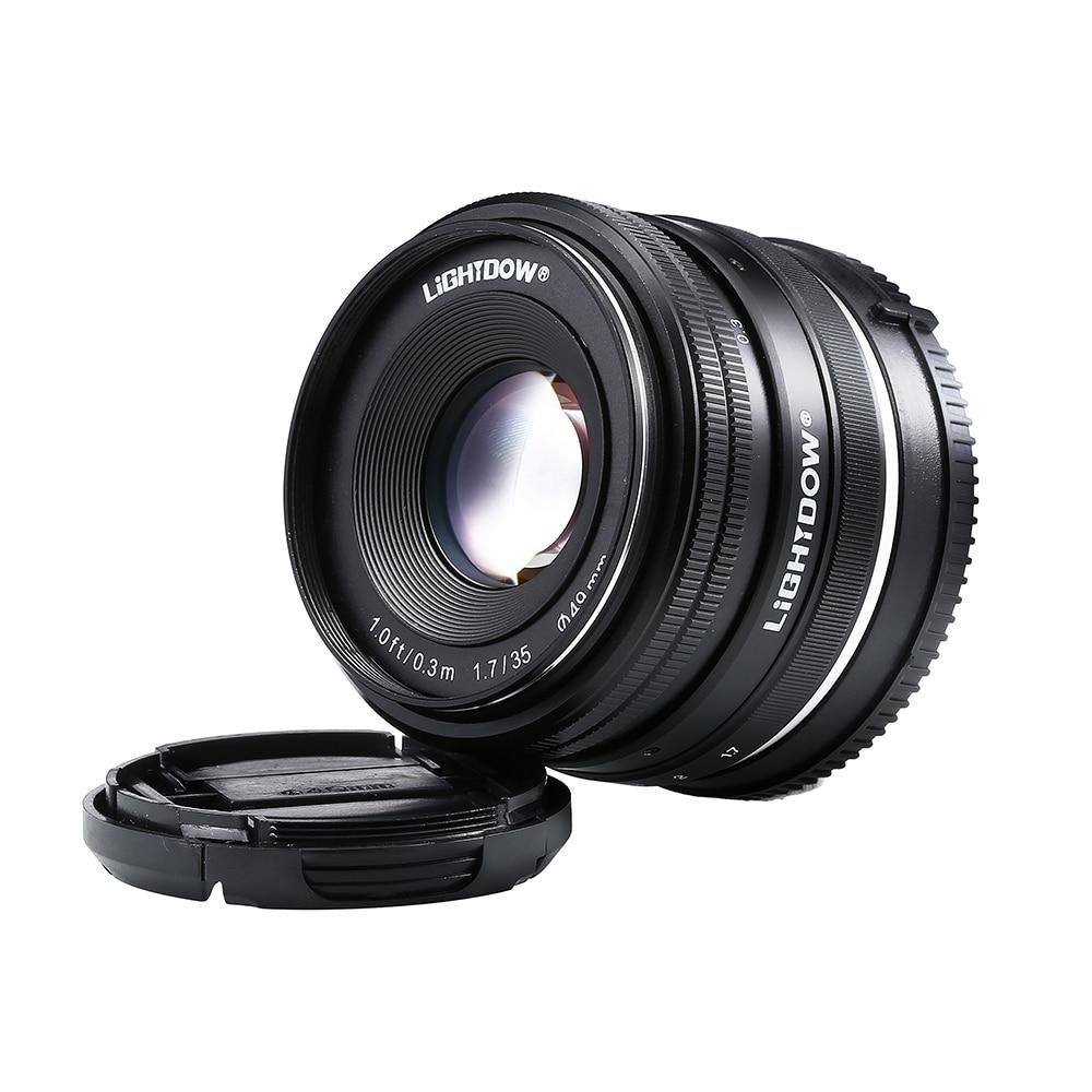 Lightdow 35mm F1.7 Manual Lens for Sony E Mount NEX 3 3N C3 5 5N 5R 5T 6 7 A6500 A6300 A6000 A5100 A5000 A3000 A3500 50mm f2 0 aperture manual focus lens aps c for eosm nikon1 m43 sony e mount nex3 5t 6 7 a5000 a6000 a6300 fuji xt1 camera