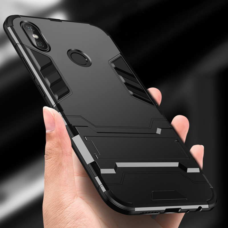 promo code bec7c db227 Case For Xiaomi Redmi Note 5 Pro Case Design Armor Shockproof Hybrid Hard  Back Cover For Redmi Note 5 Bumper Case