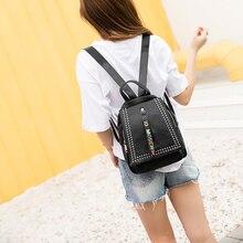 A1738 Модные Винтажные из искусственной кожи Рюкзаки для женщин Bookbag дешевые женские рюкзак школа женский Девочек Bagpack
