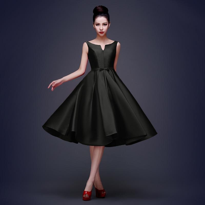 CX SHINE Pasirinktinis spalvos mados arbatinio ilgio V-Neck trumpas - Suknelės vestuvėms - Nuotrauka 3
