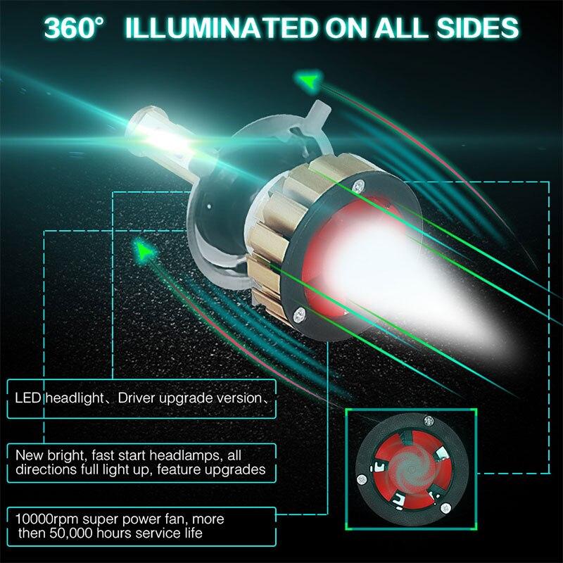 Vehemo H4/HB2/9003 светодиодный противотуманный свет лампочки Светодиодный фонарь универсальный Автомобильное освещение в сборе Замена для фар