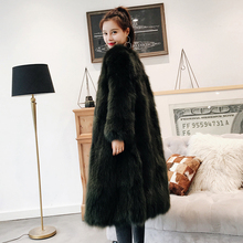 Long style natural fox fur coats women V neck 9/10 sleeve real fur jackets ladies overcoat 2018 autumn winter new arrival