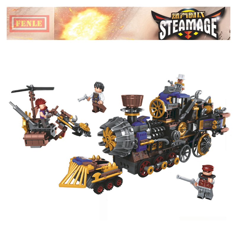 Age Of Steam City Train Station Building Blocks Sets Bricks Classic Movie Locomotive Model Kids Toy Gift Compatible Legoings
