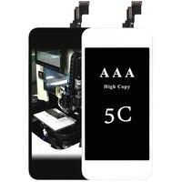 10 unids AAA Excelente Calidad LCD Para iPhone 5C Con Pantalla Táctil Digitalizador Asamblea + Soporte de La Cámara