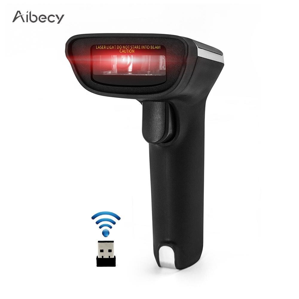 buy aibecy 2 4g wireless barcode scanner bar code scanner handheld usb wired 1d. Black Bedroom Furniture Sets. Home Design Ideas