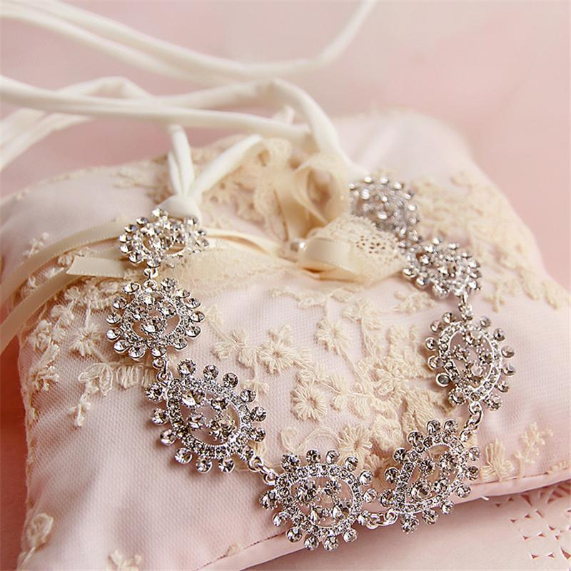 Crystal Head Chain Flower Hair Jewelry Headband Wedding Hair Accessories Bridal Headpiece Bijoux De Tete Cheveux WIGO0633