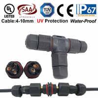 1X IP67 wasserdichte led stecker außen verwenden Draht stecker 2pin 3pin IP kabel anschluss für garten led licht