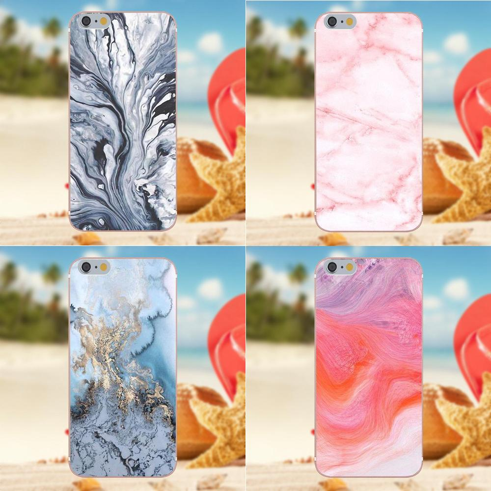 Bixedx For Galaxy A3 A5 A7 J1 J3 J5 J7 S5 S6 S7 S8 S9 edge Plus 2016 2017 Soft Mobile Phone Covers Pink Texture Marble