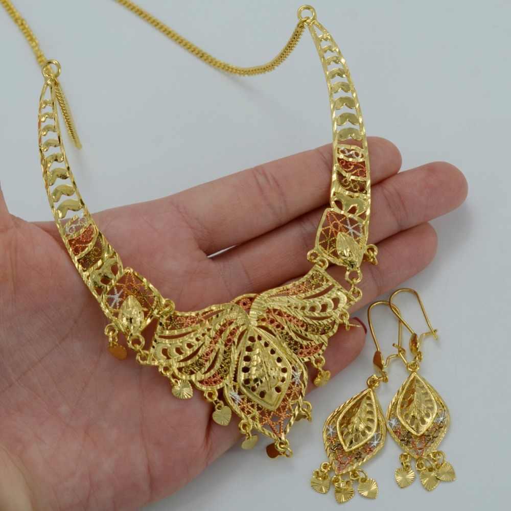 Anniyo dubai conjuntos de jóias colar brincos médio oriente arábia saudita jóias egito turquia iraque áfrica israelita presentes #008112
