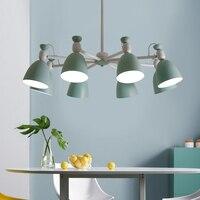 北欧ランプ吊り錬鉄製の光沢モダンなキッチン Led シャンデリア鉄ランプシェードランプ天井のシャンデリア
