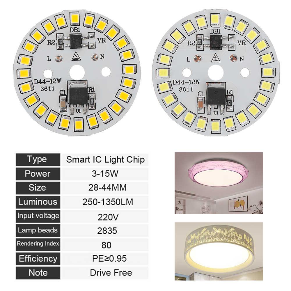1 قطعة لتقوم بها بنفسك LED لمبة مصباح AC220V المدخلات الذكية IC LED فول LED رقاقة لمبة إضاءة رقائق إضاءة مصلحة الارصاد الجوية الدافئة الأبيض 15 واط 12 واط 9 واط 7 واط 5 واط 3 واط
