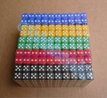 Set of 10pcs Dice Opaque 14mm Six Sided Multiple Color Options