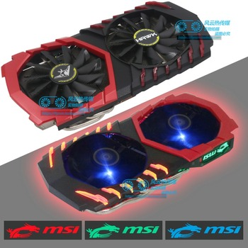 New Original for Public Edition MSI RX580 570 480 470 GTX Graphics Video Cooling Fan with LED Light Pitch 53x53 58x58MM