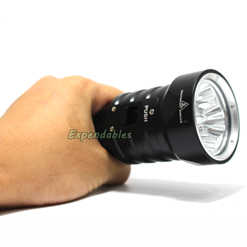 ФОТО DX4S (upgraded from DX4) XM-L U2 3200LM LED Diving Flashlight Torch Brightness Waterproof 100m White Light Led Torch