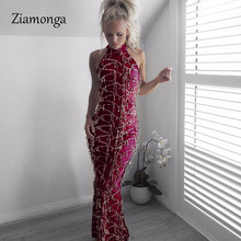 Ziamonga Sexy Gold Sequined Maxi Dress Stretch Floor Length Silver Sequins  Off Shoulder Bodycon Full Lining be99d3fe4472