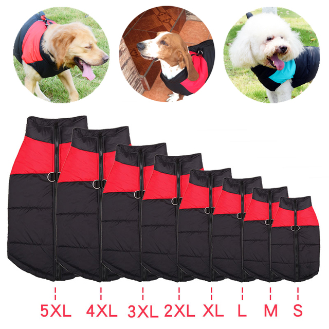 Dog Clothes For Small Big Large Dogs Pets Clothing Winter Cloth Jacket Puppy Pet Warm Waterproof Coat For French Bulldog Costume 4