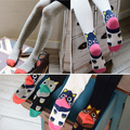 Cartoon Knitted Kids Girls Tights Autumn Spring 2016 Cute Little Girls Stocking Children Tights Girls Pantyhose Cotton Tights