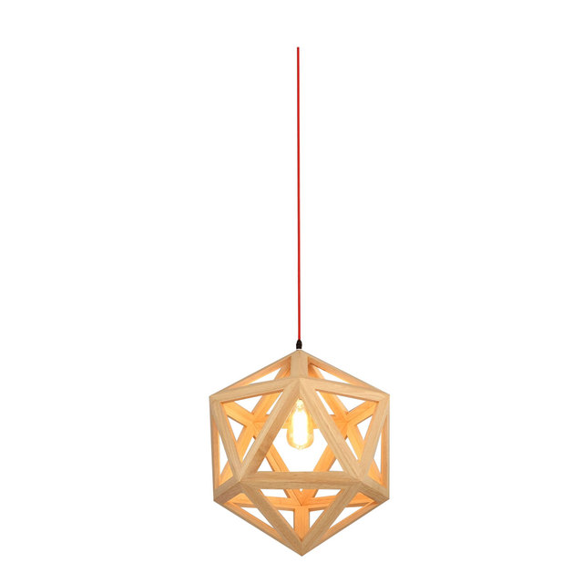Nordic wood chandelier hexahedron wood chandelier bedroom dining nordic wood chandelier hexahedron wood chandelier bedroom dining room lighting decor e27 max wattage 40w mozeypictures Images