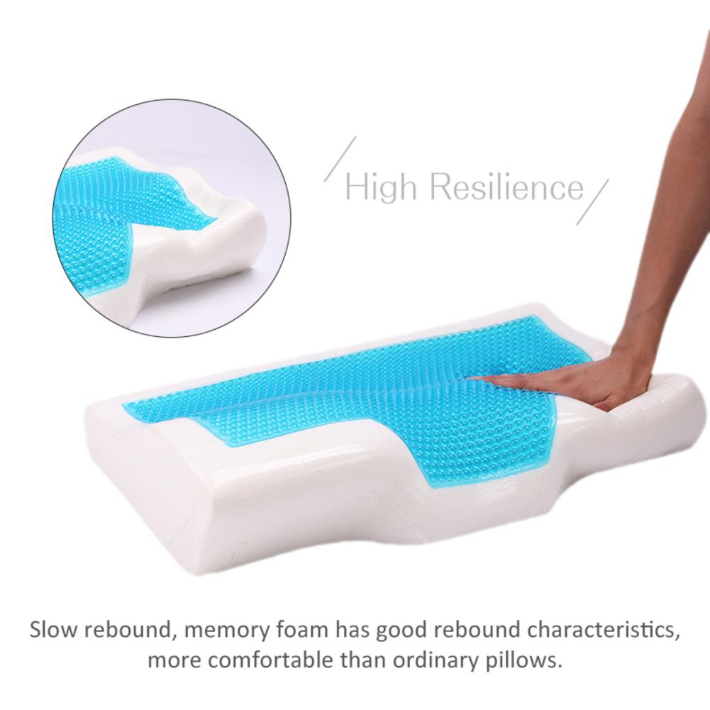 Image 2 - 1 Pcs Memory Foam Cool Gel Pillow Summer Ice cool Anti snore Neck Orthopedic butterfly silicone Sleep Pillow Cushion For Home-in Bedding Pillows from Home & Garden