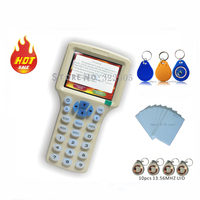 Updated Version Handheld 125KHz 13 56MHZ RFID Copier Writer Duplicator With English Encryption Software 30pcs Writable