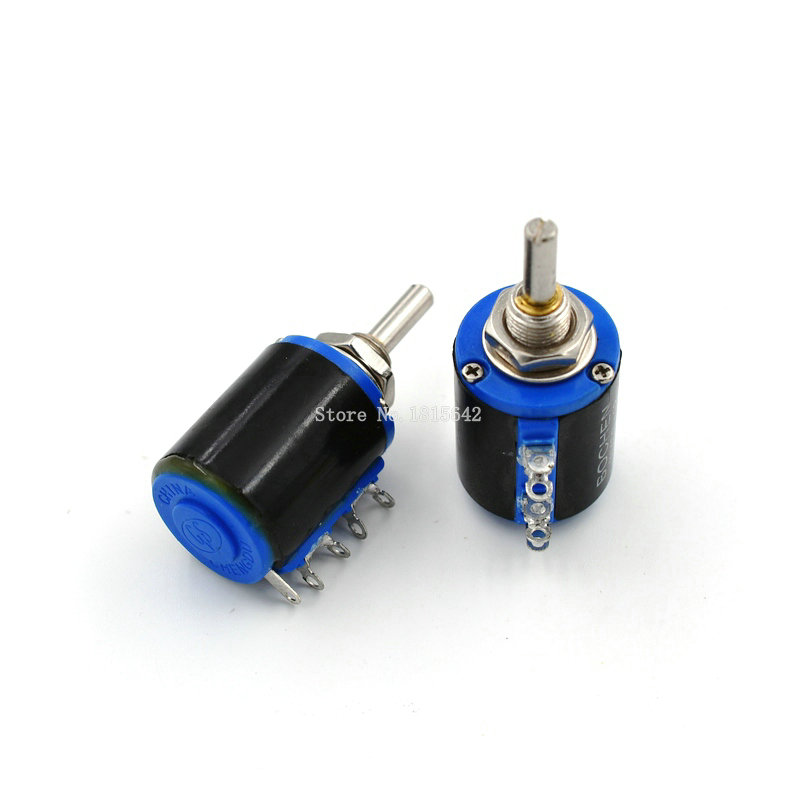 Potenciómetro de precisión 10K Ohm 2W –Electrónica Arduino Multivuelta Bobinado