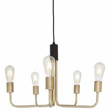 Rivet Theory Edison Bulb pendant lights multi-start Black and Brass Finish lighting for living room bedroom hotel hanging