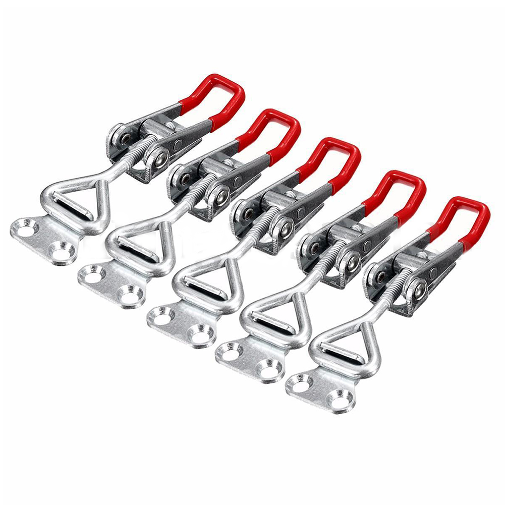5PC Adjustable Toggle Clamp Pull Action Latch Hand 100KG/220lbs Holding Capacity nrh 5619a 230 sus 304 stainless steel latch clamp wholesale price high quality adjustable latch action push pull toggle clamp