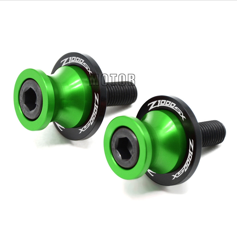 Motorcycle Swingarm Sliders Spools 10MM For Kawasaki Z1000SX 2011-2013 Z 1000 SX 1000SX S X Swing Arm Cover Stand Screws Slider