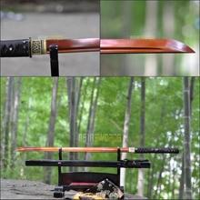 Free Sword Bag 100% Traditional Handmade t10 1095 Red Spring Steel Japanese Sword Ninja Black Japan Samurai Katana Sharp #AEF