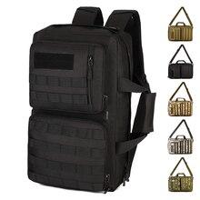 Multiusos al aire libre Mochila 35L Gran capacidad de Nylon Camo Tácticas MOLLE Bolsas Senderismo Escalador Gran bolso Messenger bag