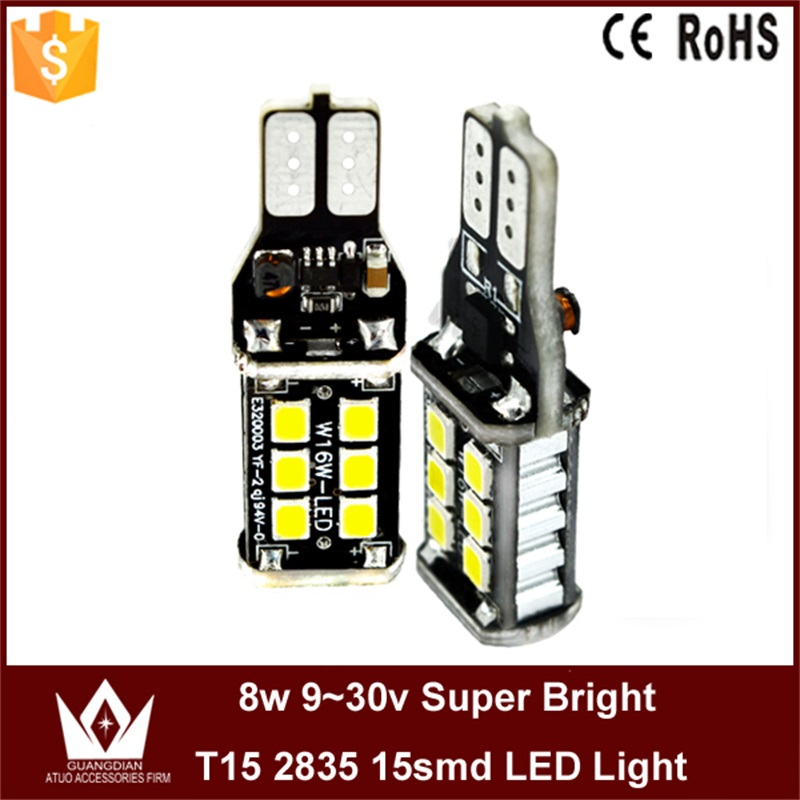 Tcart 2PCS Auto LED Bulbs Canbus Error Free T15 2835 W16W 921 Car Led <font><b>Lights</b></font> Backup Reverse Tail Lamps For Opel Mokka 2012-2015