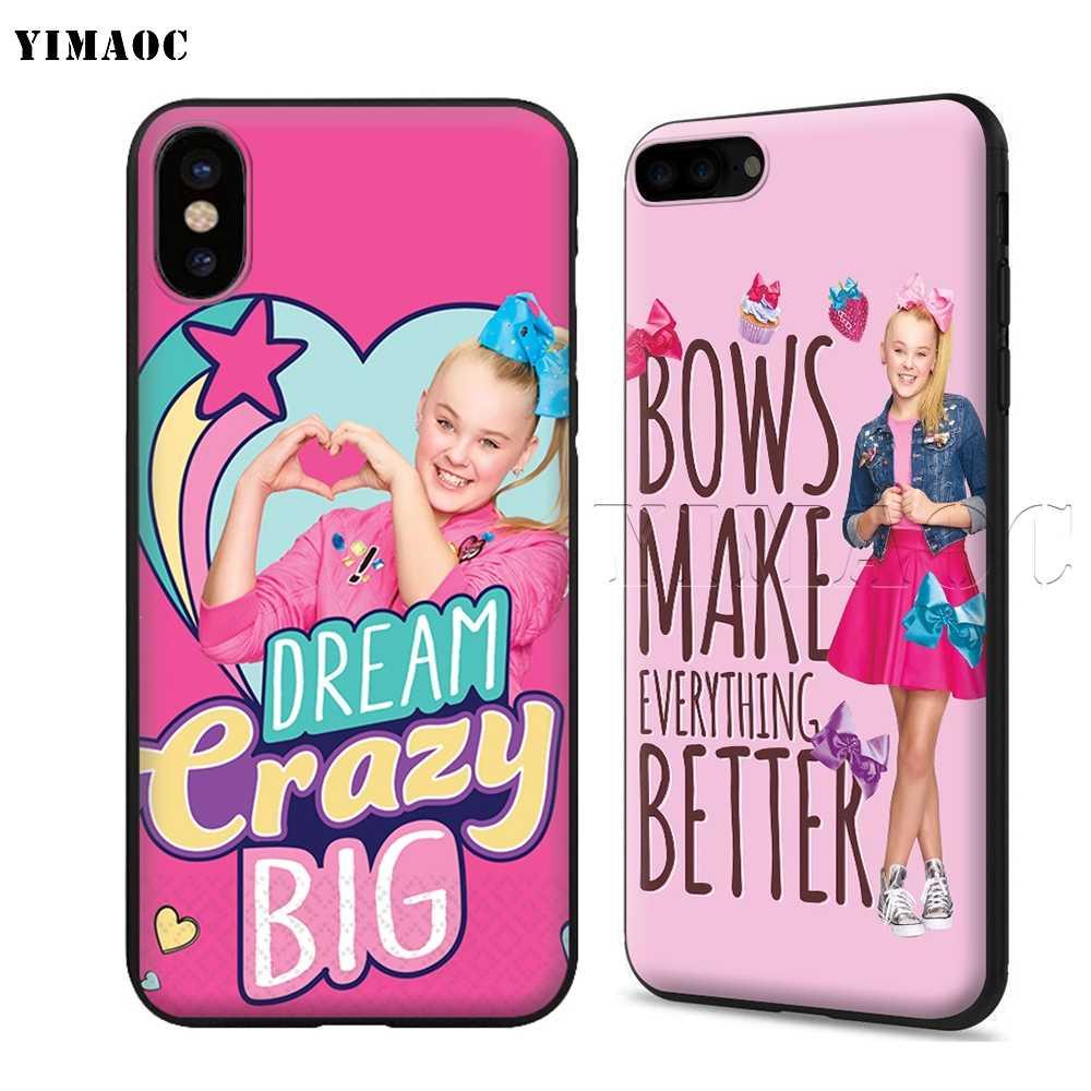 pretty nice c1095 0bf44 YIMAOC Jojo Siwa Soft Silicone Case for iPhone XS Max XR X 8 7 6 6S Plus 5  5s se