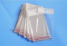 8*13cm 5000Pcs/ Lot Event Soft Clear Self Adhesive Seal Poly Package Bag Retail Plastic Packing Pouch W/ Hang Hole Hot Sale