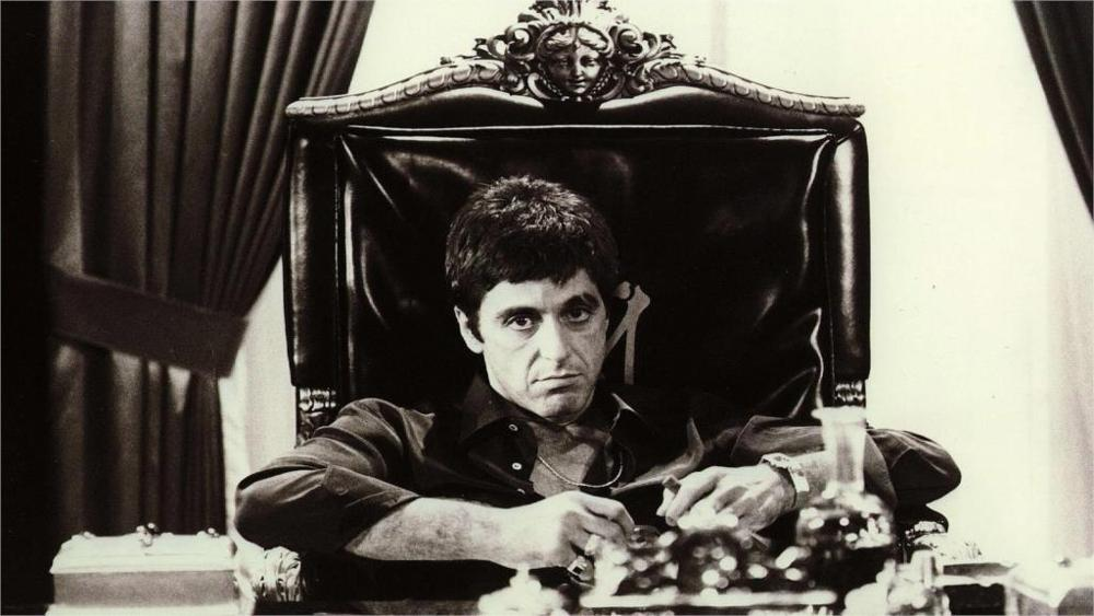 Al Pacino movies Scarface actor monochrome Home Decoration Canvas Poster image
