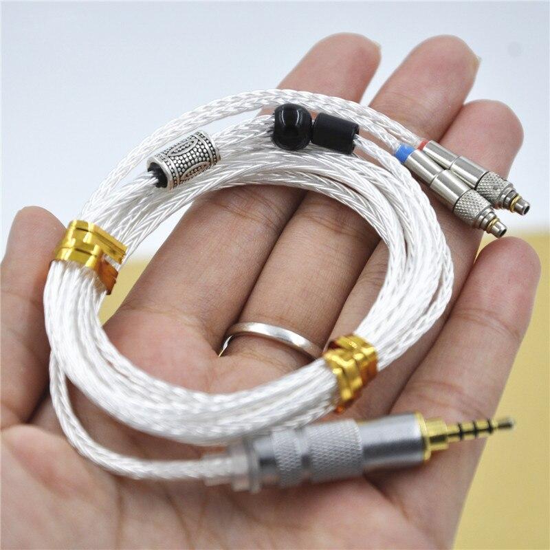 2.5 mm 4pin 16 Cores MMCX Silver-Plated Balanced Audiophile Earphone Cable For ONKYO Fiio  Cayin Iriver Amplifier DAP