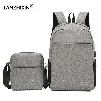 Men Casual Travel Backpacks Large Capacity USB Backpacks School Bags for Teenagers Multi-functional Anti-theft Laptop Backpacks