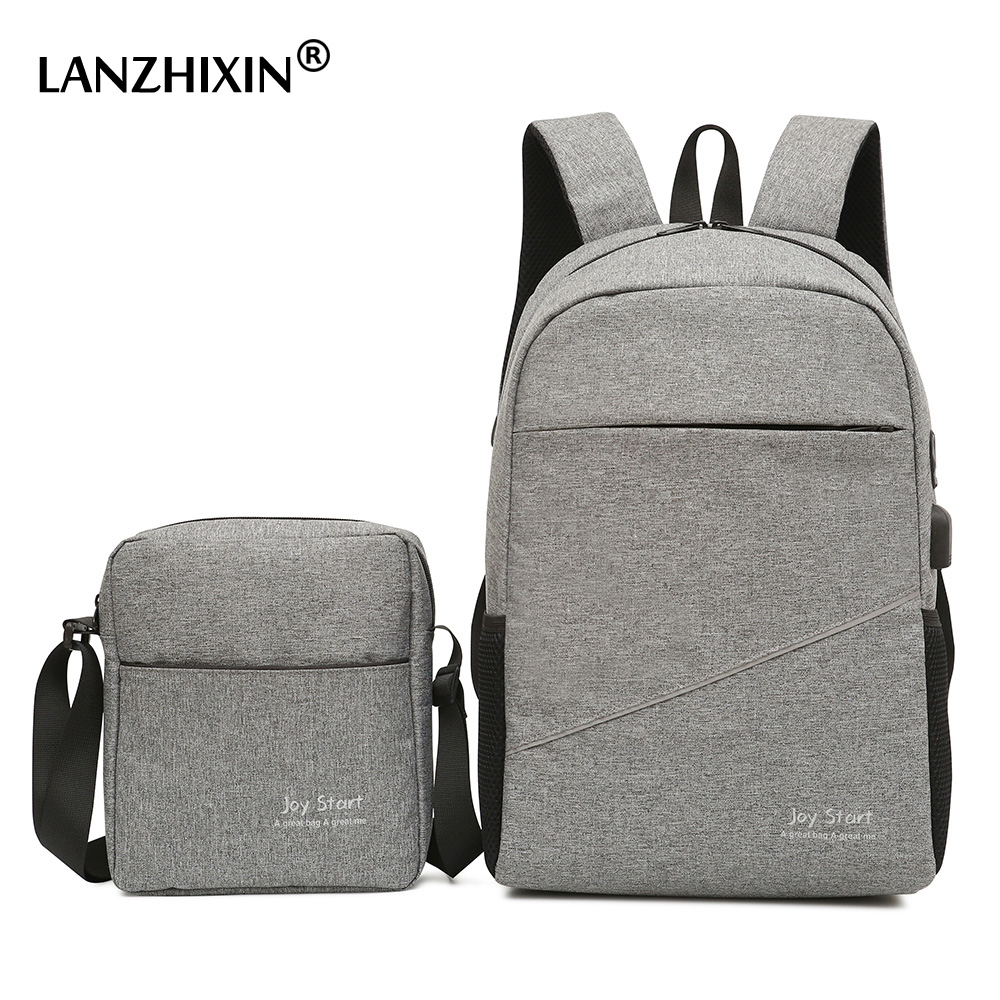 Men Casual Travel Backpacks Large Capacity USB Backpacks School Bags for Teenagers Multi functional Anti theft