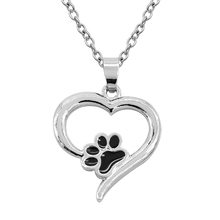 The Latest Popular Valentine's Day Gift Necklace Fashion Hollow Dog Claw Love Pendant Necklace Woman Lover Heart-Shaped Necklace