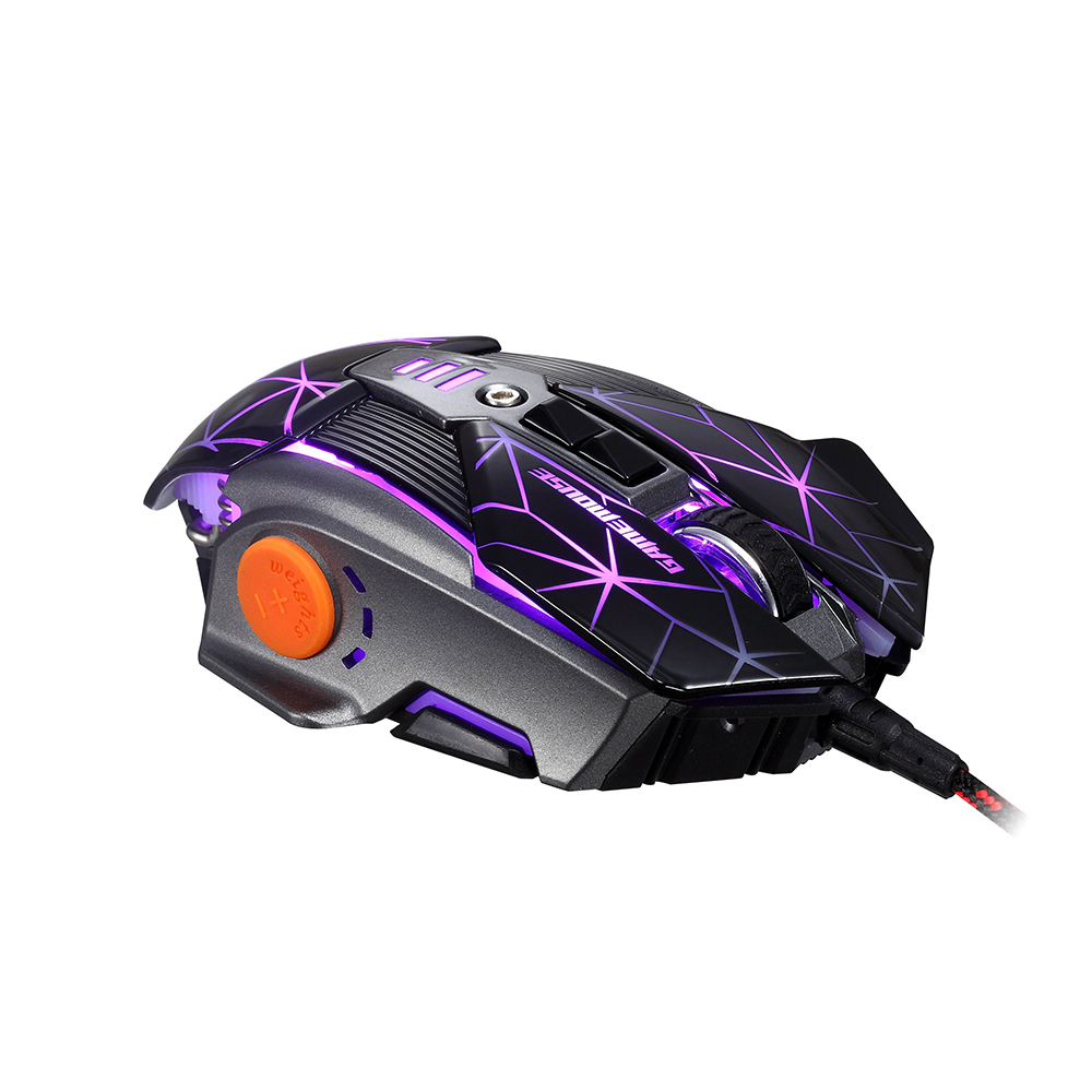 RAJFOO Laser 8 Keys Gaming Mouse with Macro Programming 128k ...