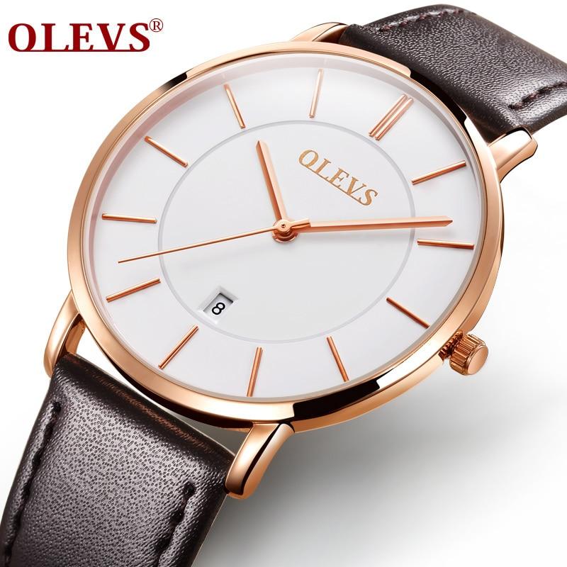 Sıcak Satış Erkekler Spor Saatleri OLEVS Lüks Marka erkek Quartz - Erkek Saatleri - Fotoğraf 3